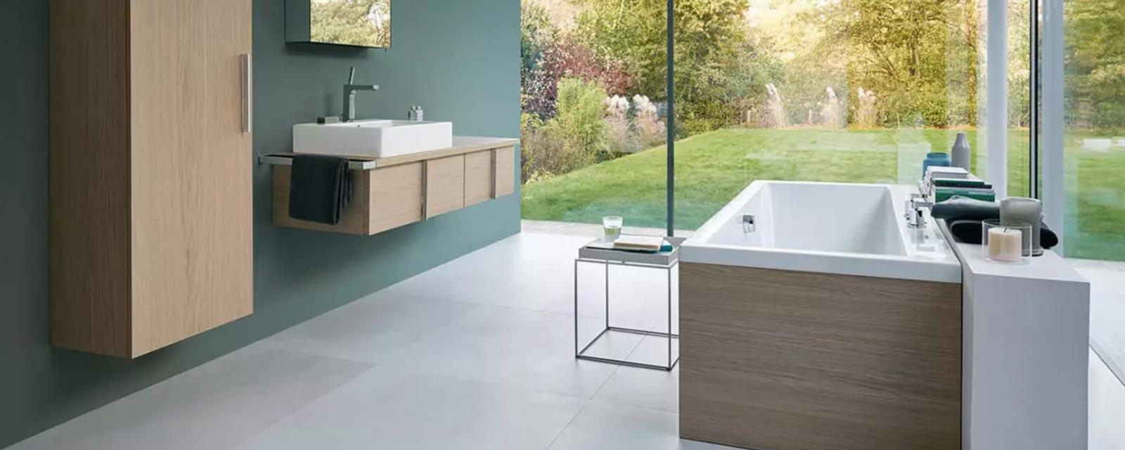 Moderniser Salle De Bain des carreaux grand format pour moderniser la salle de bains